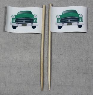 Party-Picker Flagge Auto Oldtimer Papierfähnchen in Spitzenqualität 50 Stück ...