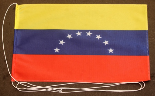 Tischflagge Venezuela 25x15 cm optional mit Holz- oder Chromständer Tischfahn...