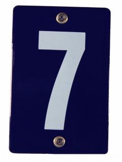 Hausnummernschild 7 Emaille Hausnummer Schild 12x8 cm Haus Nummer Zahl Ziffer...