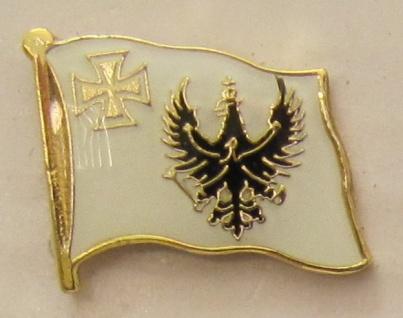 Pin Anstecker Flagge Fahne Preussen mit eisernem Kreuz
