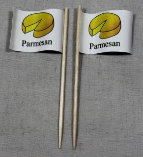 Party-Picker Flagge Parmesan Käse Papierfähnchen in Spitzenqualität 50 Stück ...