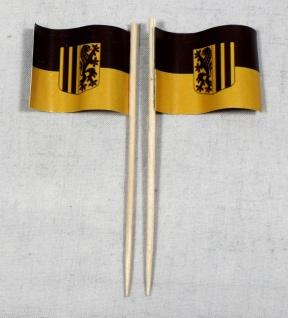 Party-Picker Flagge Dresden Papierfähnchen in Spitzenqualität 50 Stück Beutel