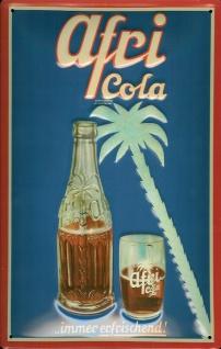 Blechschild Afri Cola Palme Werbeschild retro Schild Nostalgieschild