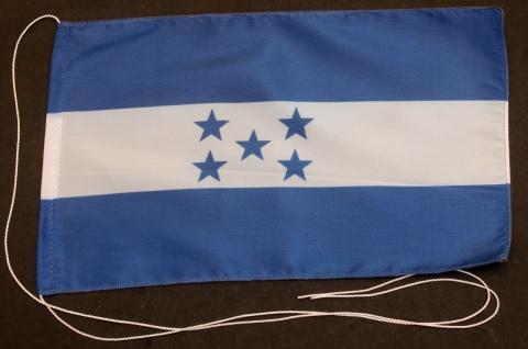 Tischflagge Honduras 25x15 cm optional mit Holz- oder Chromständer Tischfahne...