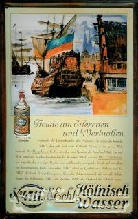 Blechschild 4711 Schiff Kogge kölnisch Wasser Parfum Schild Werbeschild Nosta...