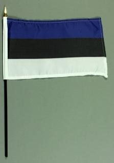 Tischflagge Estland 15x25 cm BASIC optional mit Tischflaggenständer