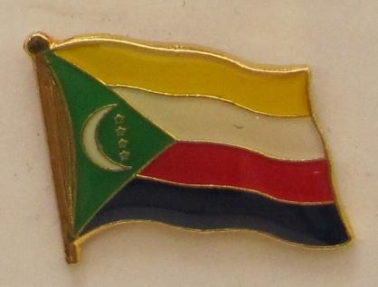 Komoren Pin Anstecker Flagge Fahne Nationalflagge