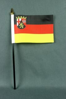 Kleine Tischflagge Rheinland Pfalz 10x15 cm optional mit Tischfähnchenständer