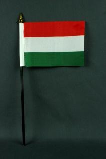Kleine Tischflagge Ungarn 10x15 cm optional mit Tischfähnchenständer