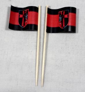 Party-Picker Flagge Sudetenland Papierfähnchen in Spitzenqualität 50 Stück Be...
