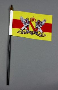 Kleine Tischflagge Baden Wappen 10x15 cm optional mit Tischfähnchenständer