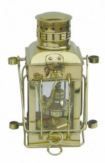 Schiffslampe Messing Cargo-Lampe 30 cm Höhe schwere Ausführung Petroleum