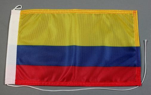 Bootsflagge : Kolumbien 30x20 cm Motorradflagge