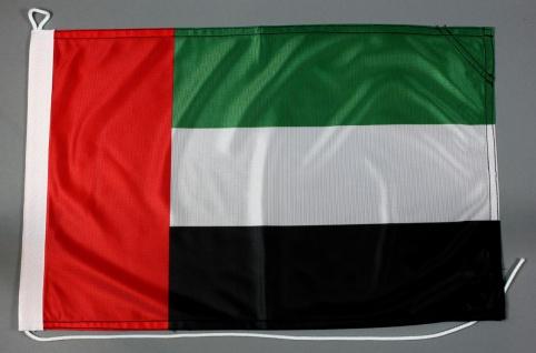 Bootsflagge Vereinigte Arabische Emirate VAE 30x45 cm Motorradflagge Bootsfahne