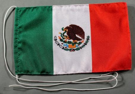 Tischflagge Mexiko 25x15 cm optional mit Holz- oder Chromständer Tischfahne T...