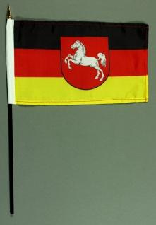 Tischflagge Niedersachsen 25x15 cm BASIC optional mit Tischflaggenständer