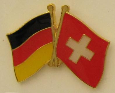Schweiz / Deutschland Freundschafts Pin Anstecker Flagge Fahne Nationalflagge...