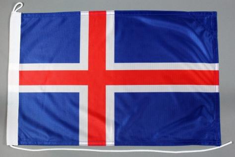 Bootsflagge Island 30x45 cm Motorradflagge Bootsfahne