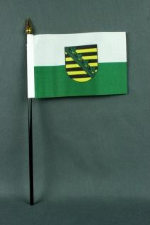 Kleine Tischflagge Sachsen 10x15 cm optional mit Tischfähnchenständer