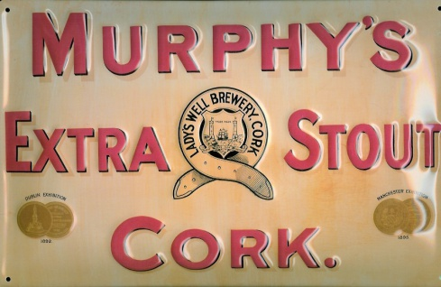 Blechschild Murphys Extra Stout - Cork Irland Bier Schild Werbung