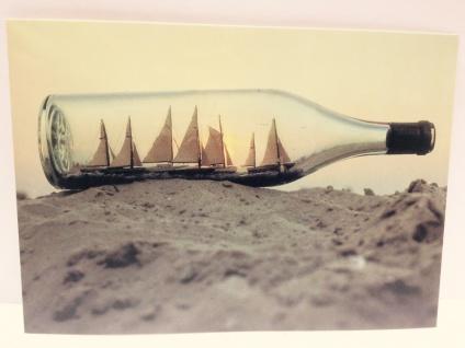 Buddelschiff - Postkarte ec08