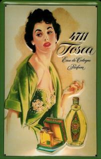 Blechschild 4711 Tosca (1) Fläschchen Eau de Cologne kölnisch Wasser Parfum S... - Vorschau