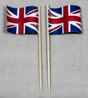 Party-Picker Flagge Grossbritannien Papierfähnchen in Spitzenqualität 50 Stüc...