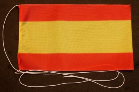 Tischflagge Spanien ohne Wappen 25x15 cm optional mit Holz- oder Chromständer...