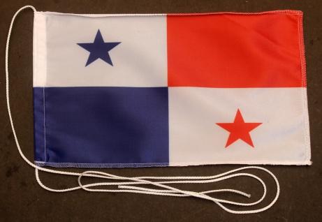 Tischflagge Panama 25x15 cm optional mit Holz- oder Chromständer Tischfahne T...