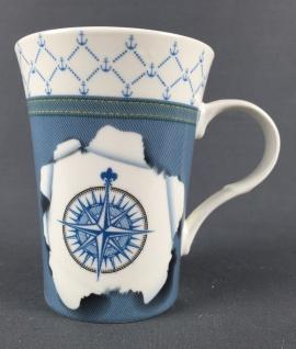Maritimer Becher Windrose Tasse/Kaffeebecher in Geschenkbox Kaffee Becher And...