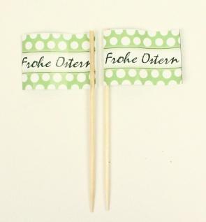 Party-Picker Flagge Frohe Ostern grün Kreise Papierfähnchen in Spitzenqualitä...