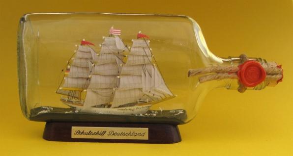 Schulschiff Deutschland Buddelschiff 375 ml Flachmann ca. 21x9 cm Buddelschif...