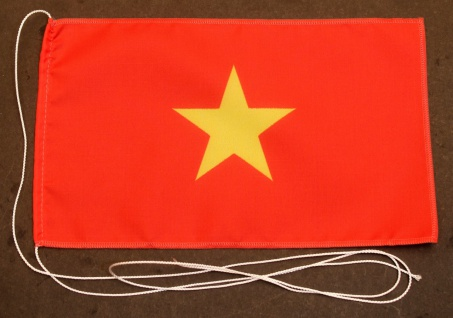 Tischflagge Vietnam 25x15 cm optional mit Holz- oder Chromständer Tischfahne ...