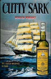 Blechschild Cutty Sark Scotch Whisky Segelschiff Schild retro Nostalgie Werbe...