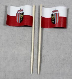 Party-Picker Flagge Oberösterreich Papierfähnchen in Spitzenqualität 50 Stück...