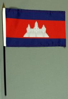 Tischflagge Kambodscha 15x25 cm BASIC optional mit Tischflaggenständer