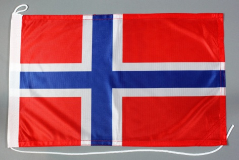 Bootsflagge Norwegen 30x45 cm Motorradflagge Bootsfahne