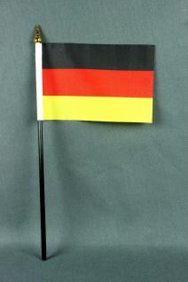 Kleine Tischflagge Deutschland 10x15 cm optional mit Tischfähnchenständer
