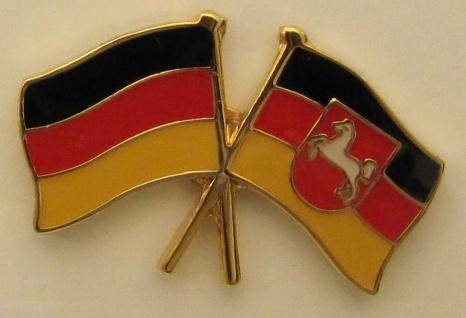 Niedersachsen / Deutschland Freundschafts Pin Anstecker Flagge Fahne National...