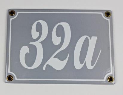 32a hellgrau Schreibschrift 17x12 cm sofort lieferbar 3-stellig Schild Emaill...