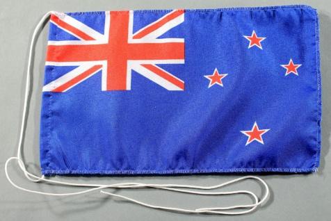 Tischflagge Neuseeland 25x15 cm optional mit Holz- oder Chromständer Tischfah...