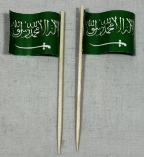 Party-Picker Flagge Saudi Arabien Papierfähnchen in Spitzenqualität 50 Stück ...