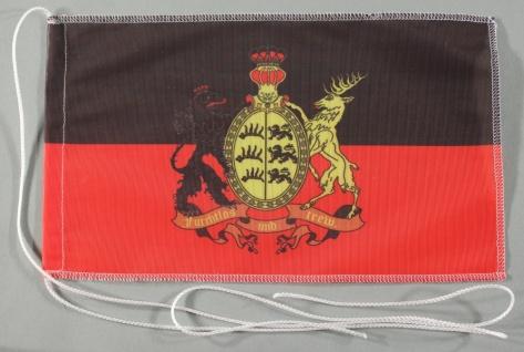 Tischflagge Württemberg furchtlos und Trew 25x15 cm optional mit Holz- oder C...