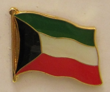 Kuwait Pin Anstecker Flagge Fahne Nationalflagge