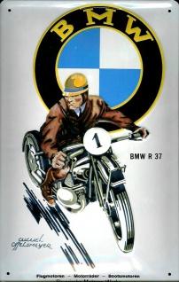 Blechschild BMW R 37 Motorrad Schild Nostalgieschild retro Schild Werbeschild