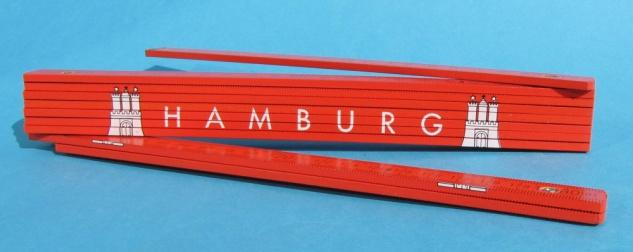 Hamburg Zollstock Gliedermaßstab Meterstab Wappen