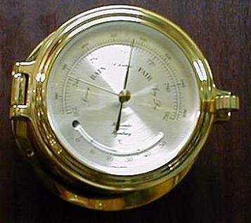 Barometer / Thermometer 140 mm Bullaugen - Look