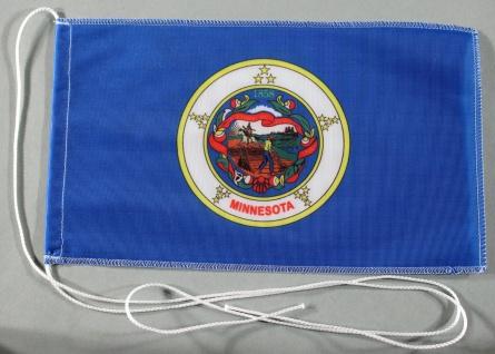 Tischflagge Minnesota USA Bundesstaat US State 25x15 cm optional mit Holz- od...