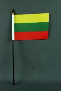 Kleine Tischflagge Litauen 10x15 cm optional mit Tischfähnchenständer - Vorschau 1