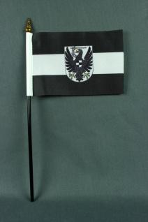 Kleine Tischflagge Westpreussen Preussen 10x15 cm optional mit Tischfähnchens...